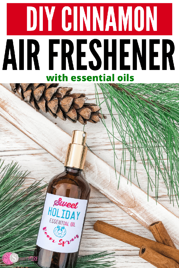 This DIY Cinnamon Air Freshener with Essential Oils is so simple and easy. It's made with natural ingredients to have your home smelling amazing! All you need are a few simple supplies to get started on this easy holiday recipe. Why have your home filled with chemicals when you can go the natural route instead? This simple idea is also a great gift for all your family and friends, too. Give your home the smell of cinnamon this year! #cinnamon #airfreshener #naturalliving #essentialoils