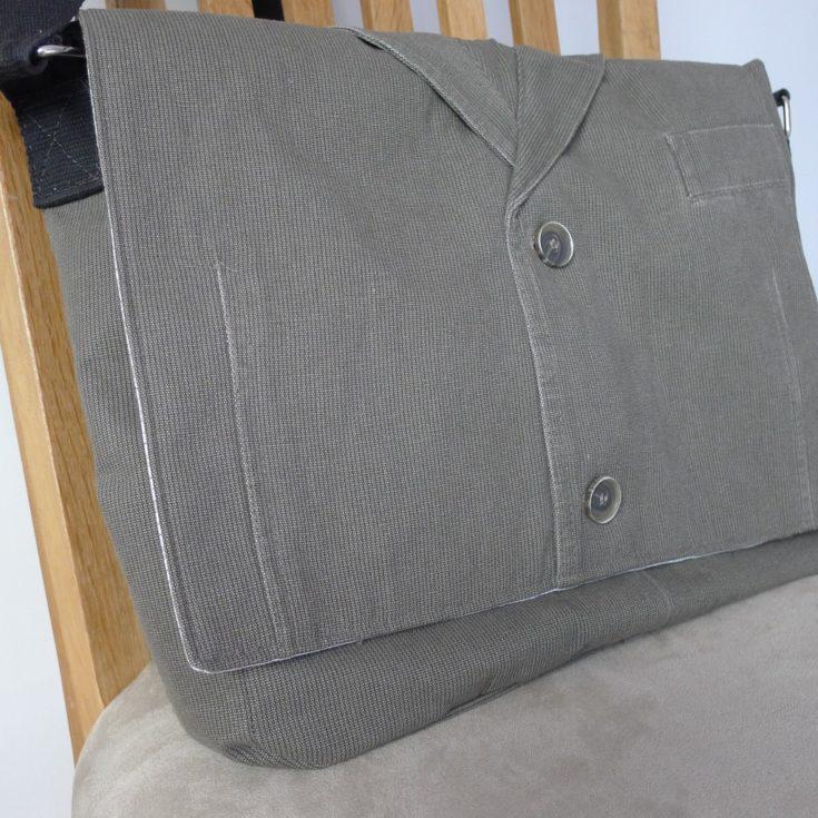 Upcycled messenger bag tutorial