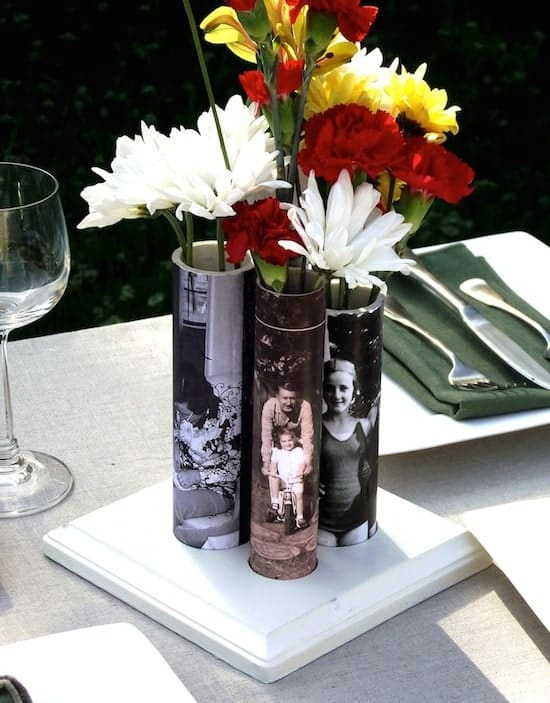 Make Photo Vases with the Most Unique Material