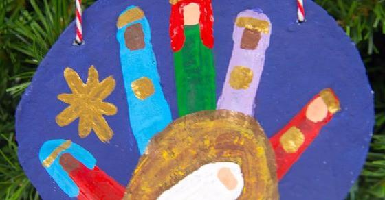 Make A Nativity Salt Dough Handprint Ornament For A DIY Christmas Gift!