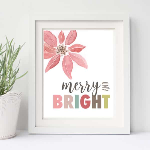 Merry and Bright Holiday Print & Gift Tags