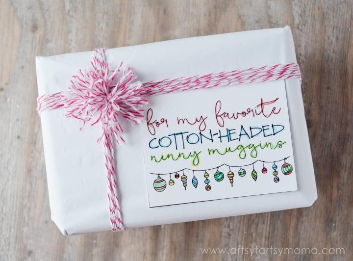 Free Printable Doodle Christmas Gift Tags