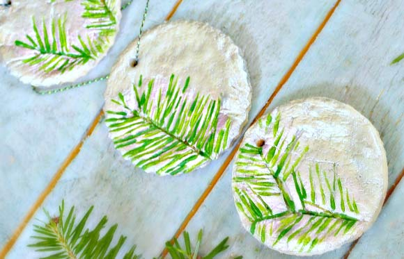 Pine Stamped Salt Dough Ornaments – Christmas Ornaments