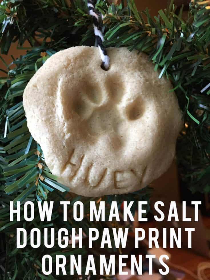 Salt Dough Paw Print Ornaments DIY