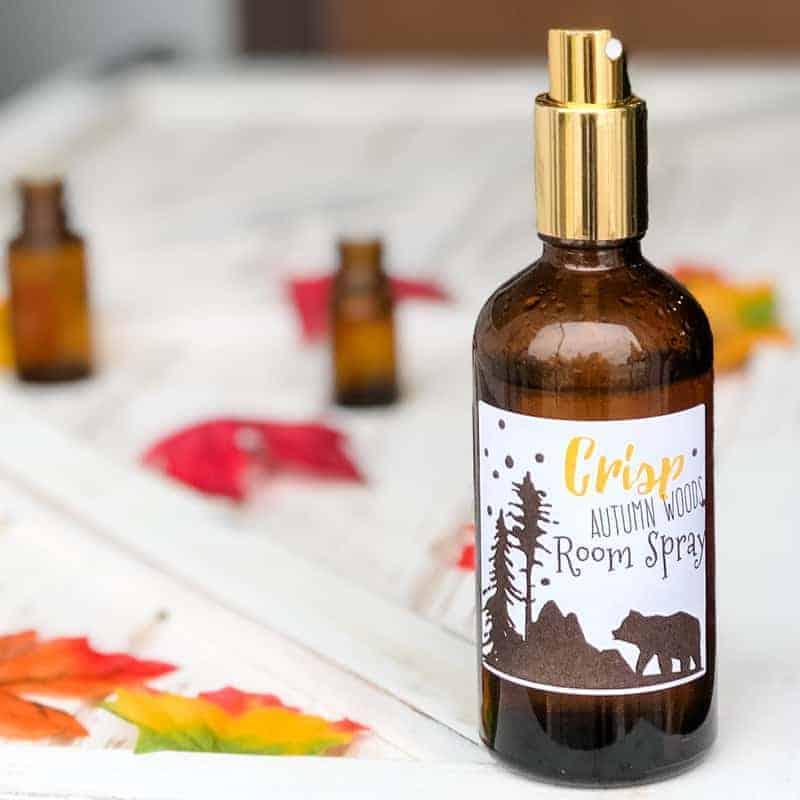 DIY essential oil room spray autumn scent