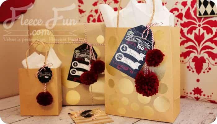 Printable holiday gift tags: Handmade for you