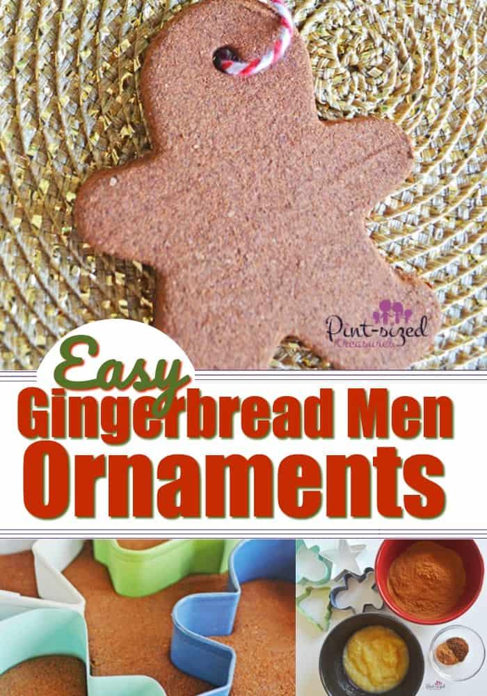 Easy Salt Dough Gingerbread Men Ornaments · Pint-sized Treasures