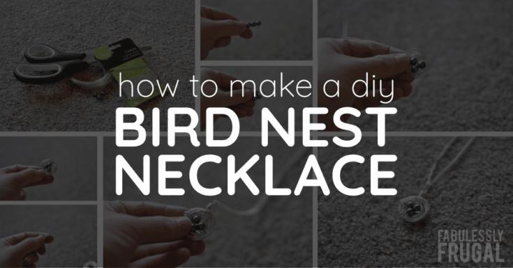 How to Make a DIY Bird Nest Necklace
