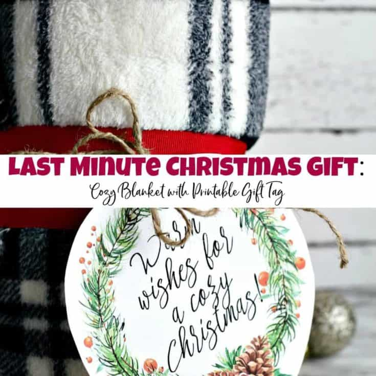 Last Minute Christmas Gift: Blanket with Printable Gift Tag