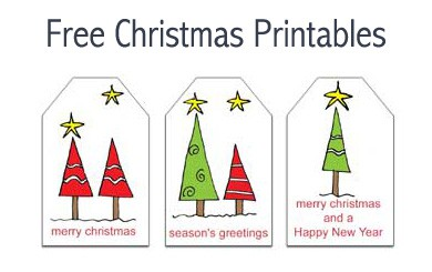 Free Christmas Printables: Gift Tags and Notepaper with Envelopes
