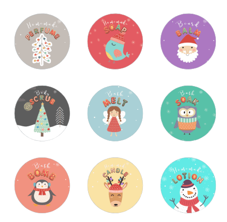 12 christmas label templates