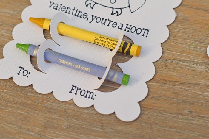 DIY Crayon Classroom Valentines with Cricut