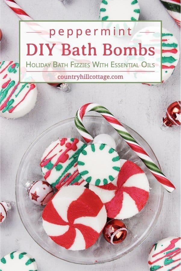 DIY Peppermint Bath Bombs – Christmas Candy Cane Bath Bombs