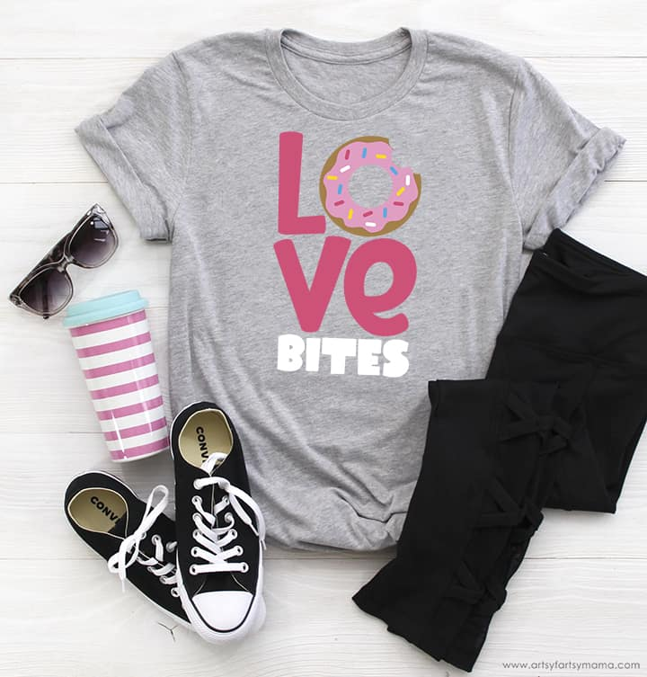 """""""Love Bites"""" Shirt with Free Valentine's Day Cut Files"""