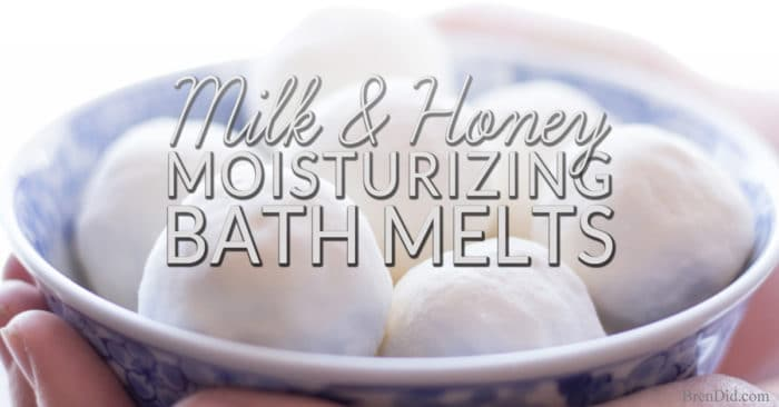 Moisture Rich Milk and Honey Bath Melts to Soothe