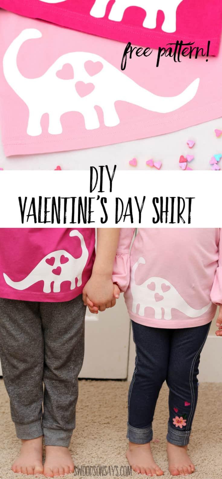 Free Valentine's Day Dinosaur SVG / Applique