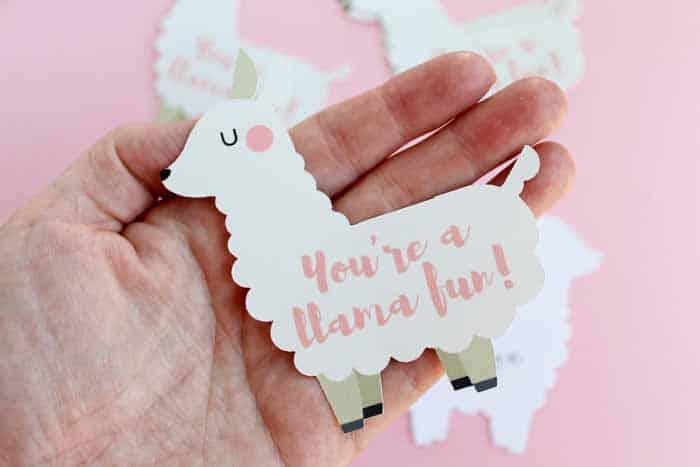 Free Printable Llama Valentine
