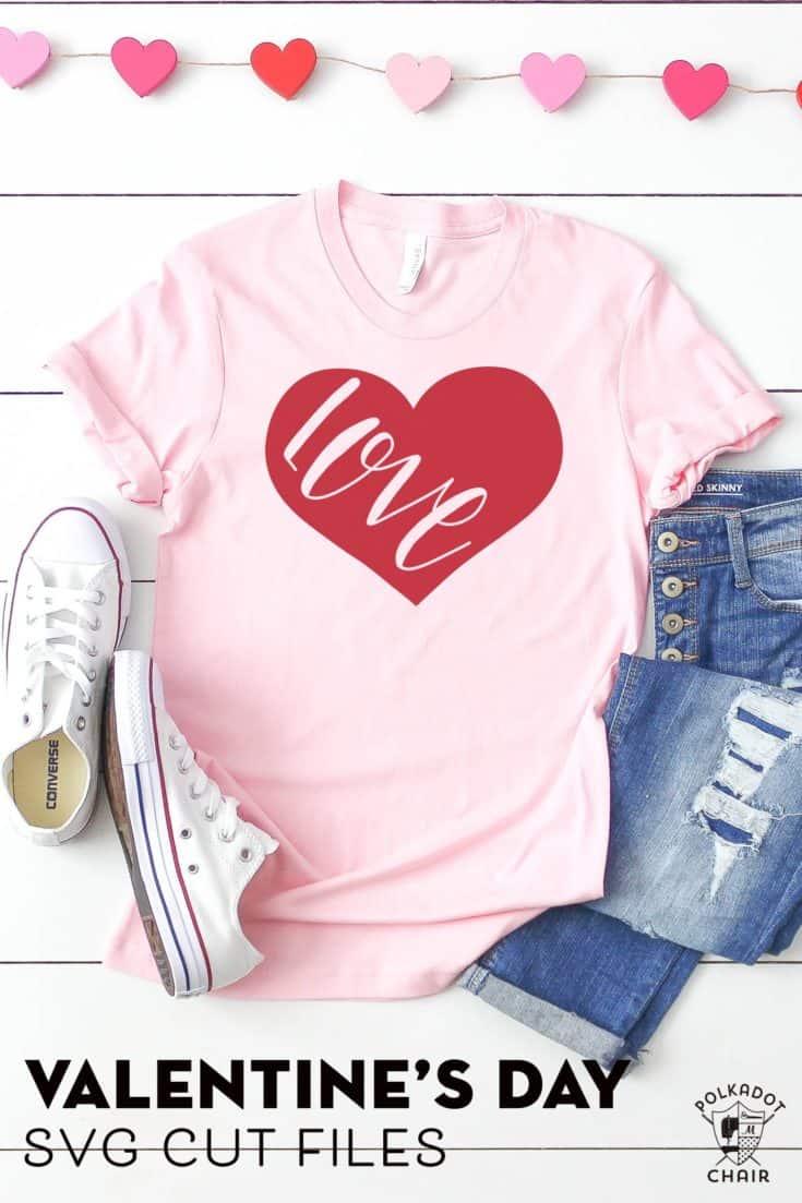 DIY Valentine's Day T-Shirts and Valentine SVG Files