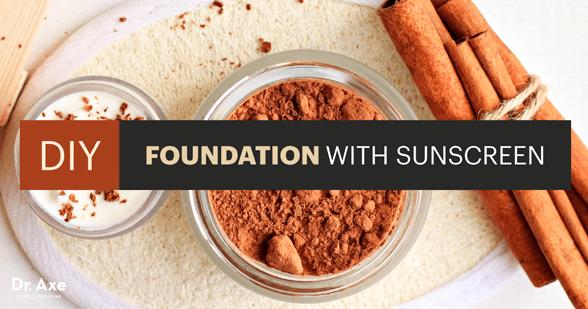 DIY Foundation Makeup with Sunscreen
