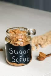 simple homemade brown sugar body scrub