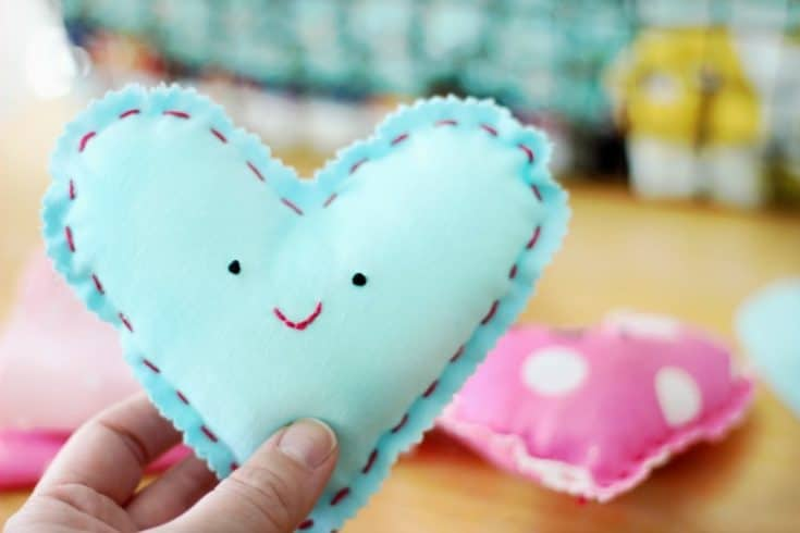 Heart Plushie Sewing Project for Kids