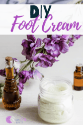 DIY foot cream using CBD oil
