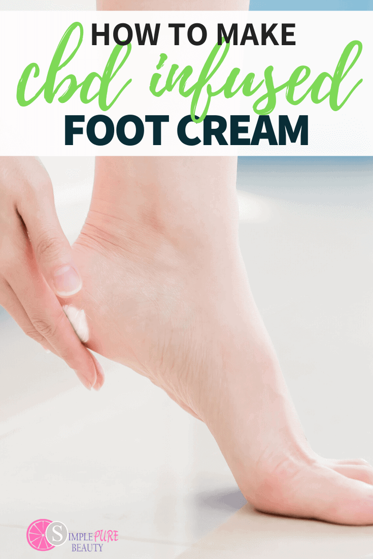 DIY CBD Foot Cream