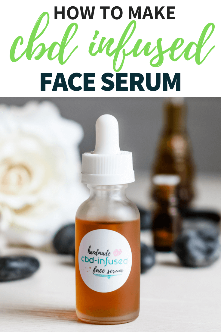 CBD infused face serum