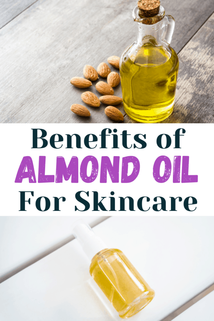 bottle of almond oil for skincare recipes