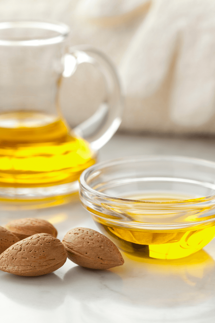 bottle of almond oil for skincare recipes