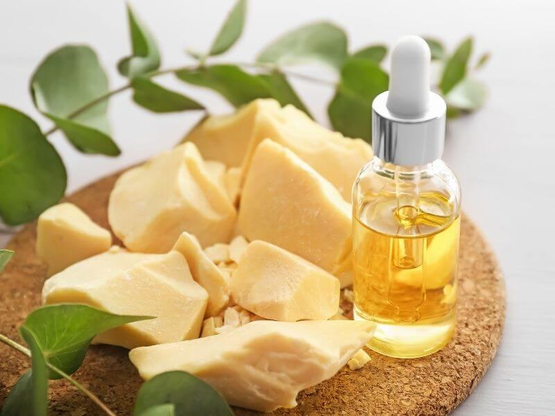 cocoa butter and face serum