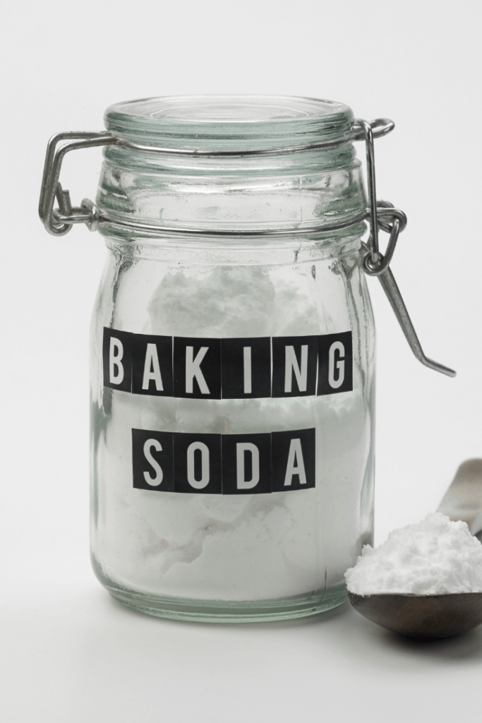 baking soda to adjust pH of skincare products