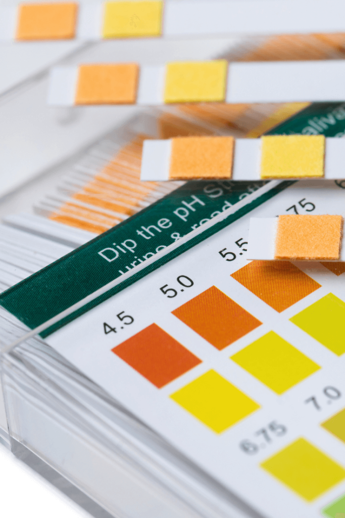 pH test strips to test pH of homemade skincare products