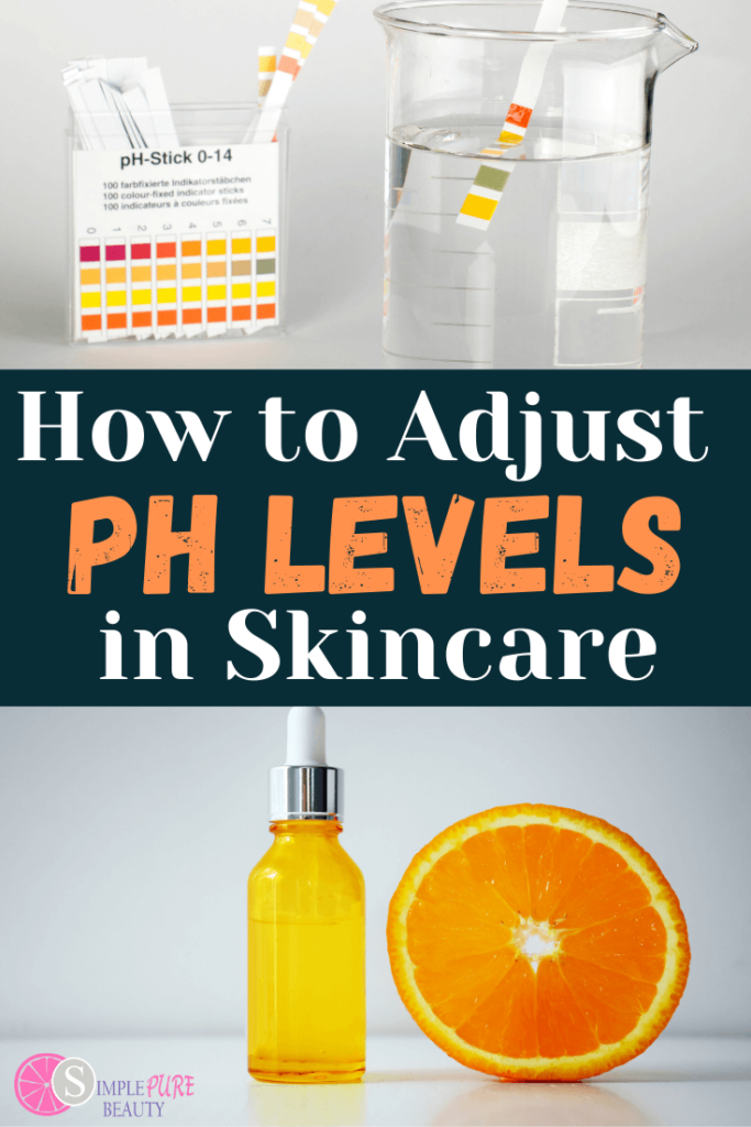 ph strips to test ph levels in skincare products