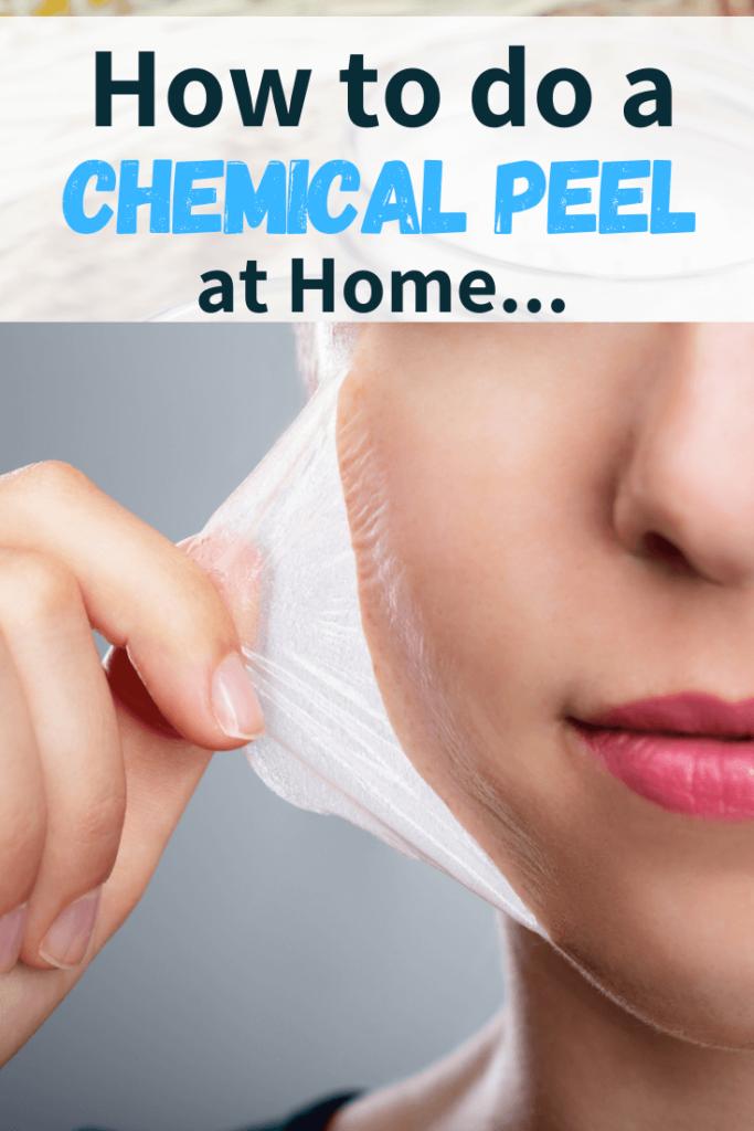 woman doing facial peel