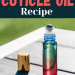 Roller bottle of diy cuticle oil