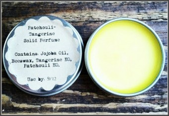 Fresh Picked Beauty Patchouli and Tangerine Solid Perfume Recipe