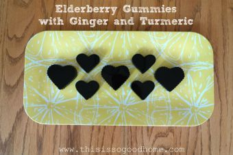 Elderberry Gummies with Ginger and Turmeric