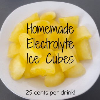 HOMEMADE ELECTROLYTE ICE (TO REPLACE SPORTS DRINKS!)