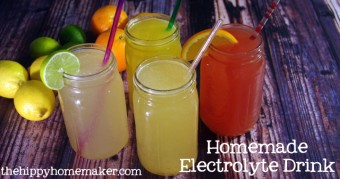 Homemade Electrolyte Drink – A Healthy Gatorade Alternative with Four Tasty Flavors
