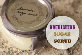 Nourishing Homemade Sugar Scrub