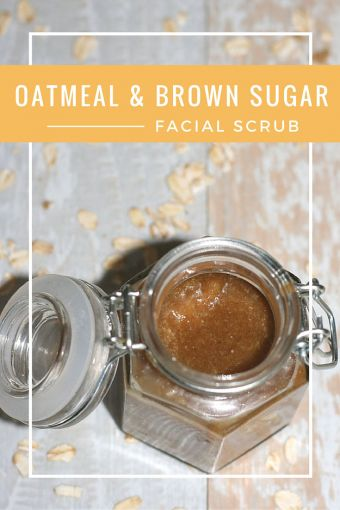 Oatmeal and Brown Sugar Exfoliating Facial Scrub
