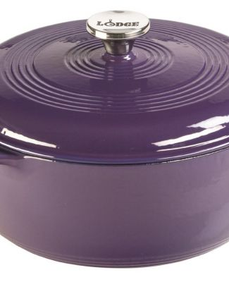 Lodge EC6D93 Enameled Cast Iron Dutch Oven, 6-Quart, Purple
